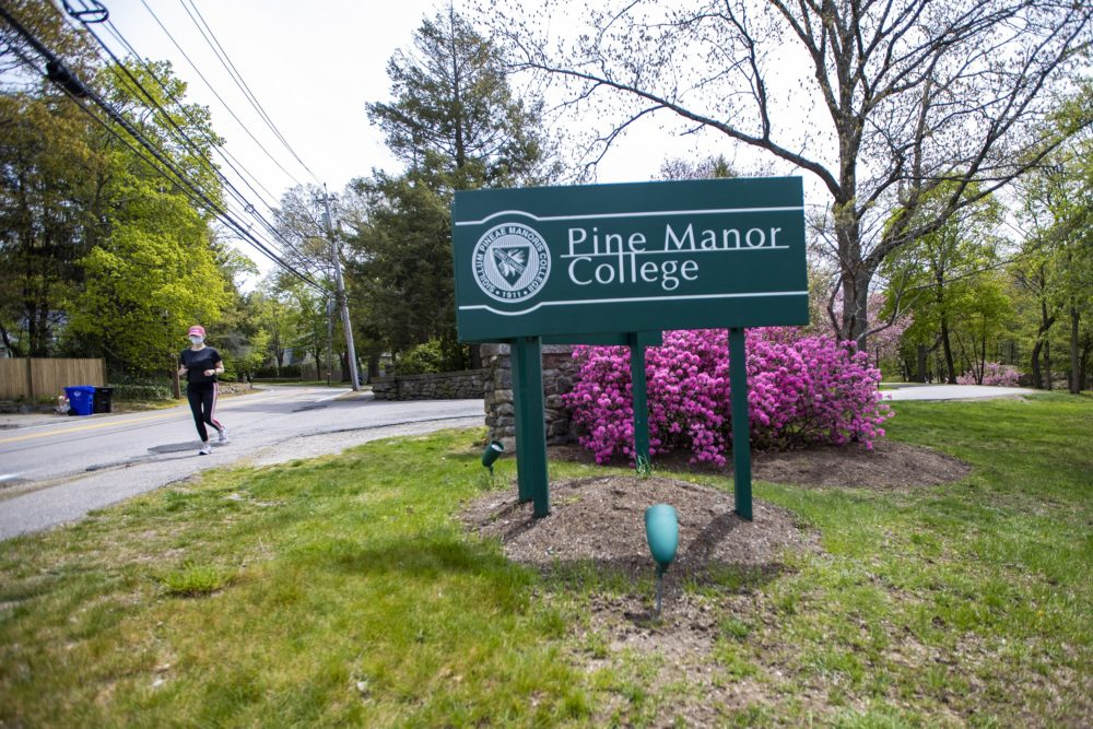 Pine Manor College in Brookline. (Jesse Costa/WBUR)
