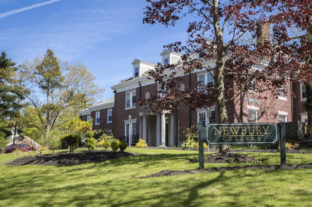 A file photo of Newbury College, in Brookline, which closed in the spring of 2019. (Jesse Costa/WBUR)