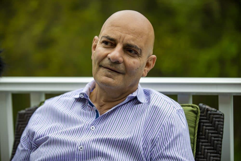 Dr. Nicolaos Athienites at his home. (Jesse Costa/WBUR)