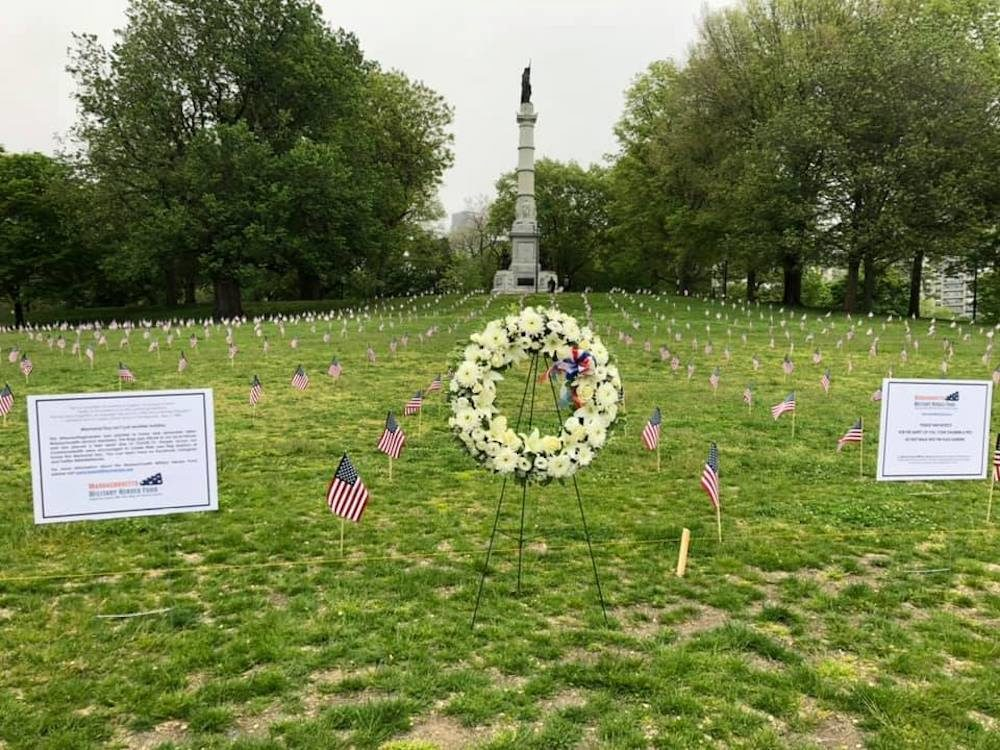One thousand flags, placed six feet apart, decorate the Boston Common on Memorial Day. (Courtesy of Mike Casey/CASEY Photography)