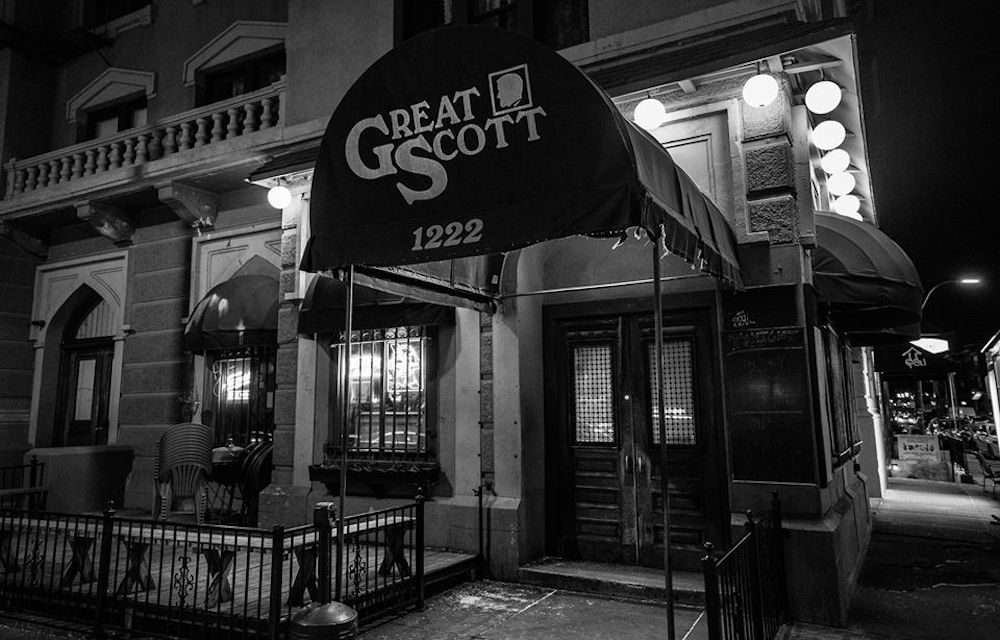 The awning for rock club Great Scott. (Courtesy Great Scott/Facebook)