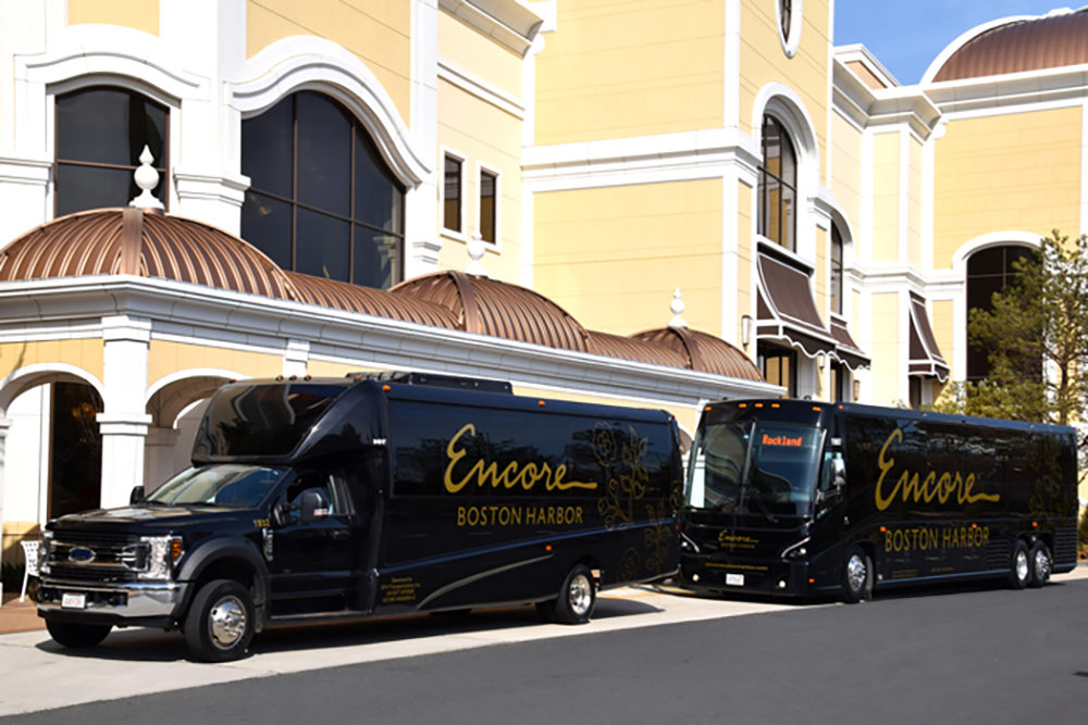 Last summer, DPV Transportation secured a deal with Encore Boston Harbor casino to provide shuttle service. For the past several weeks, those shuttles have been idle. (Courtesy Jose Perez)