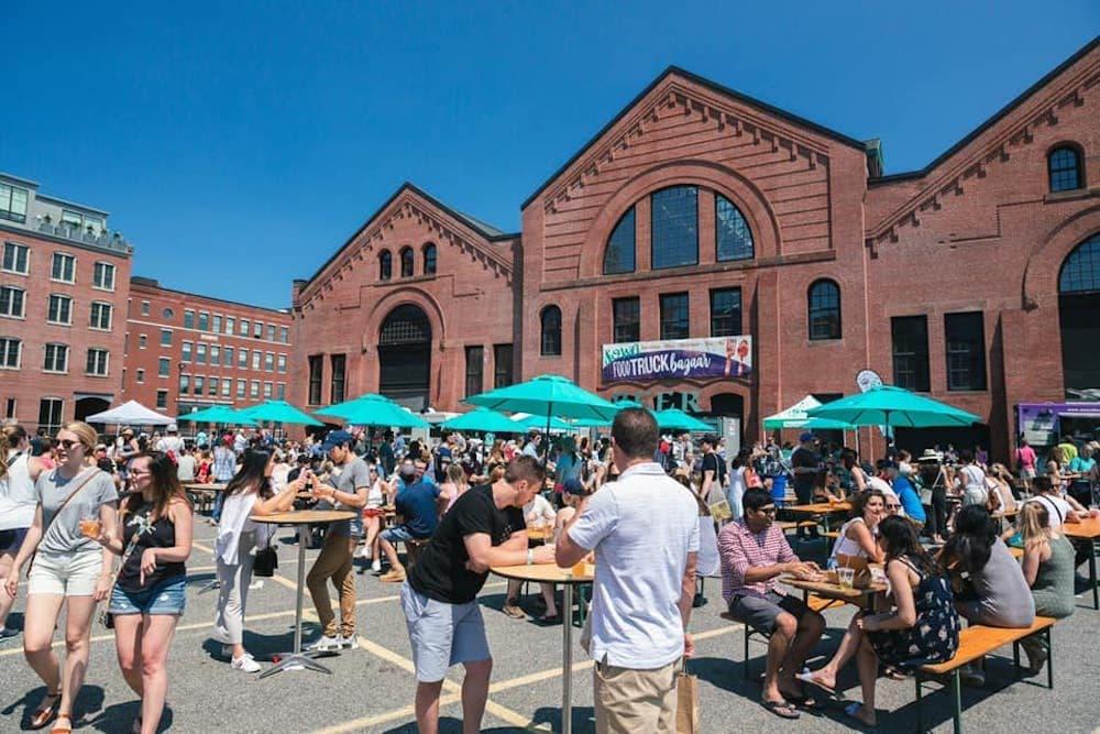 People gathered at SoWa Open Market last summer. (Courtesy SoWa/Facebook)