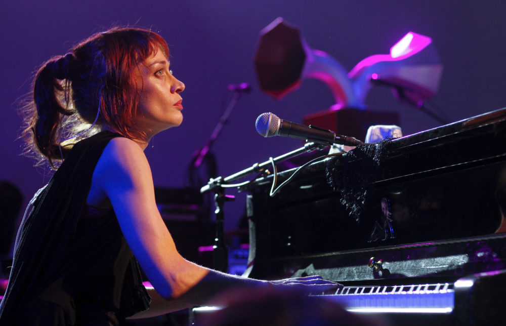Fiona Apple performs at the NPR showcase during the SXSW Music Festival in Austin, Texas on Wednesday, March 14, 2012. (Jack Plunkett/AP)