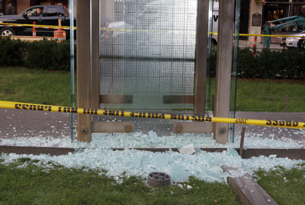 The New England Holocaust Memorial in Boston was vandalized in August 2017. (AP Photo/Steven Senne, File)