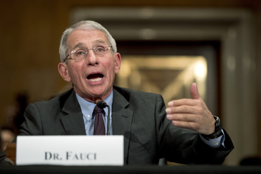 National Institute for Allergy and Infectious Diseases Director Dr. Anthony Fauci testifies before a Senate Health, Education, Labor and Pensions Committee hearing on the coronavirus on Capitol Hill, Tuesday, March 3, 2020, in Washington. (Andrew Harnik/AP)