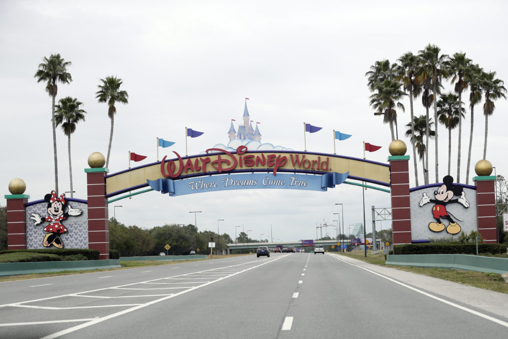 Walt Disney World has been closed along with other theme parks around Florida. But the NBA may be paying a visit. (John Raoux/AP)