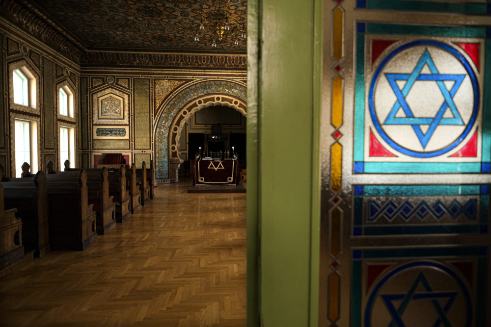 In this Thursday, April 9, 2020 photo a synagogue in Sarajevo, Bosnia, is deserted as worshipers stay away due to the national lockdown to limit the spread of the coronavirus. (Kemal Softic/AP)