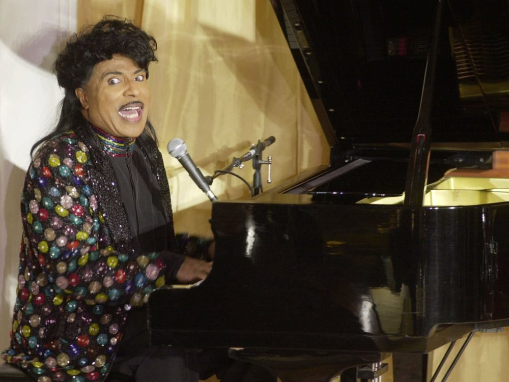 In this July 22, 2001 file photo, Little Richard performs at the 93rd birthday and 88th year in show business gala celebration for Milton Berle, in Beverly Hills, Calif. (John Hayes/AP)