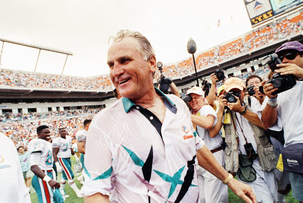 Former Miami Dolphins head coach Don Shula in 1991. (Kathy Willens/AP)