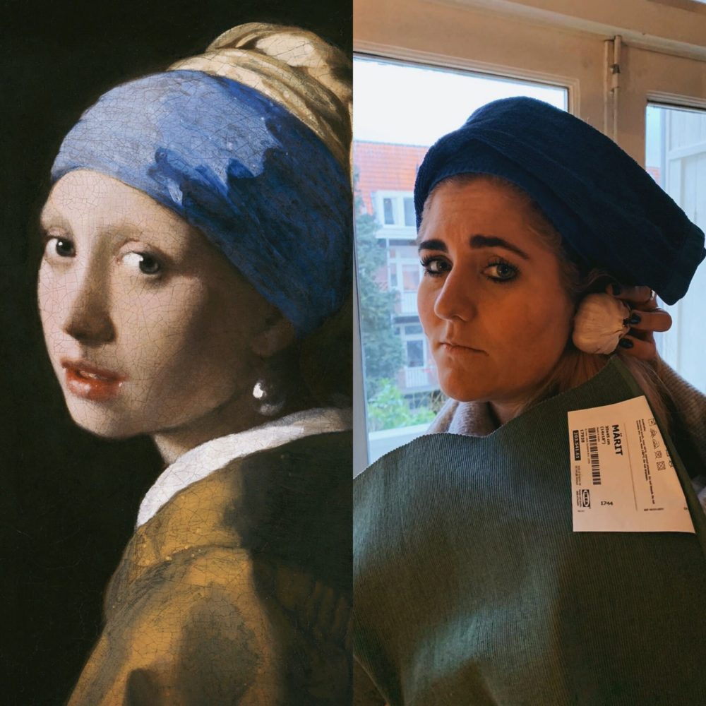 Anneloes Officier as Girl with a Pearl Earring (Courtesy)