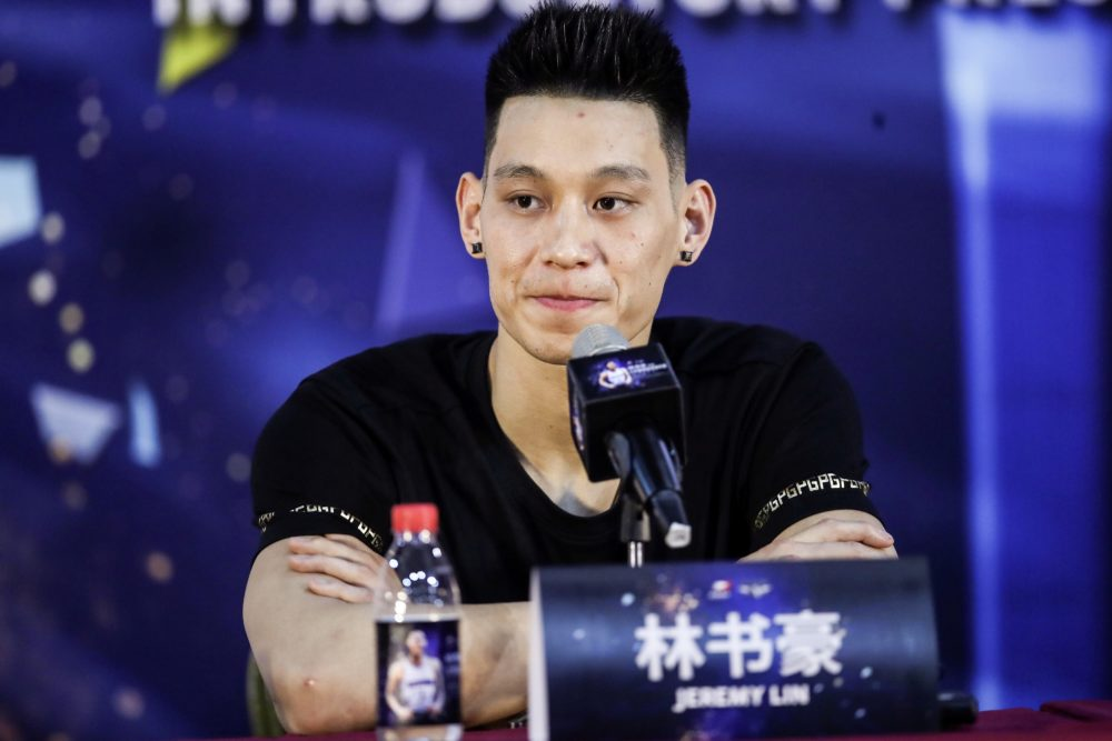 After winning an NBA championship with the Raptors last season, Jeremy Lin signed with the Beijing Ducks of the Chinese Basketball Association. (STR/AFP via Getty Images)