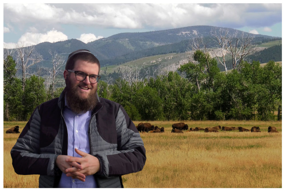 Rabbi Chaim Bruk in Bozeman, Montana. (Courtesy Gerald Peary and Amy Geller)