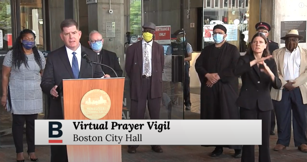 Boston Mayor Marty Walsh and city religious leaders came together Saturday and held a virtual prayer vigil in response to violence and racism in the US.