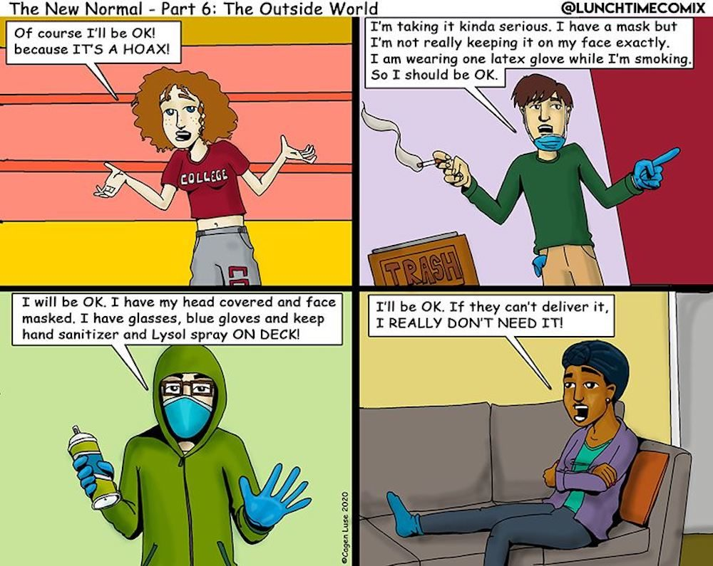 Local Illustrator Captures New Normal Of Life During Pandemic In Comic Strip Series The Artery