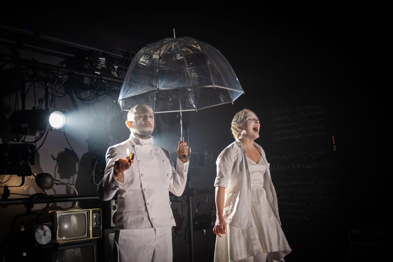 """David Gamarnik and Olga Sokolova in the Arlekin Players' production of """"The Stone."""" (Courtesy Irina Nanilova)"""