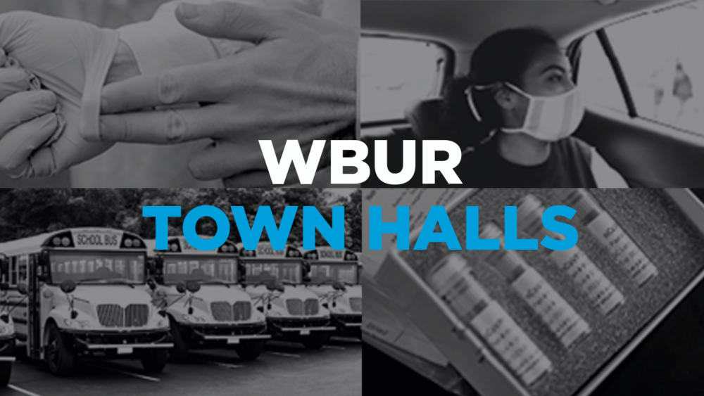 WBUR Town Halls are virtual events held on Tuesdays at 6 p.m.