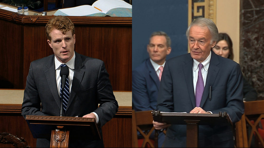 Rep. Joe Kennedy, left, and   Sen. Ed Markey in a composite image. (AP)