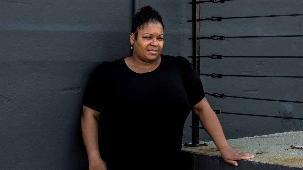 Lakesha Lopez, the director of nursing at Bannister Center for Rehabilitation and Health Care in Providence, Rhode Island, survived COVID-19. (Alex Kay Potter/ProPublica)