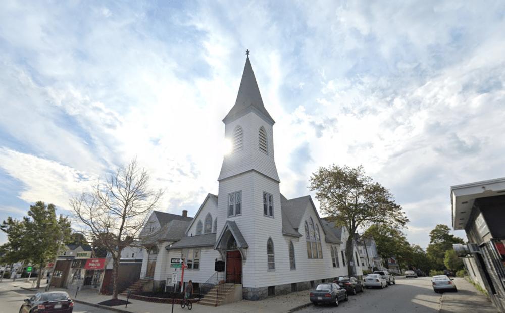 Adams Square Baptist Church in Worcester (Screenshot via Google Maps)