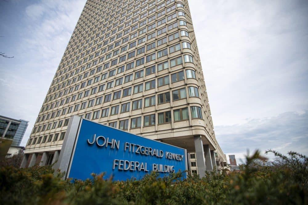 El Tribunal de Inmigración de Boston está ubicado en el Edificio Federal John F. Kennedy. (Jesse Costa/WBUR)