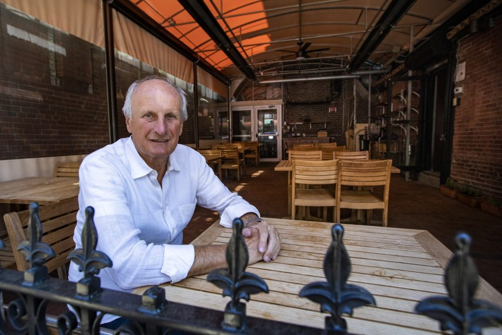 Trattoria il Panino owner Frank DePasquale is eager to open the patio of his North End restaurant. (Jesse Costa/WBUR)