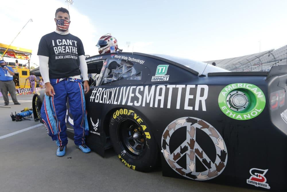 NASCAR driver Bubba Wallace. (Steve Helber/AP)