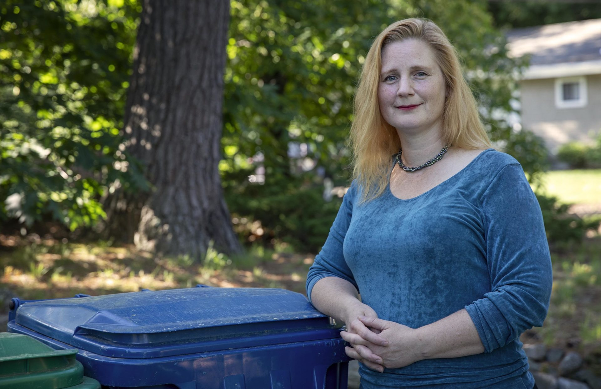 Gretchen Carey, president of MassRecycle. (Robin Lubbock/WBUR)
