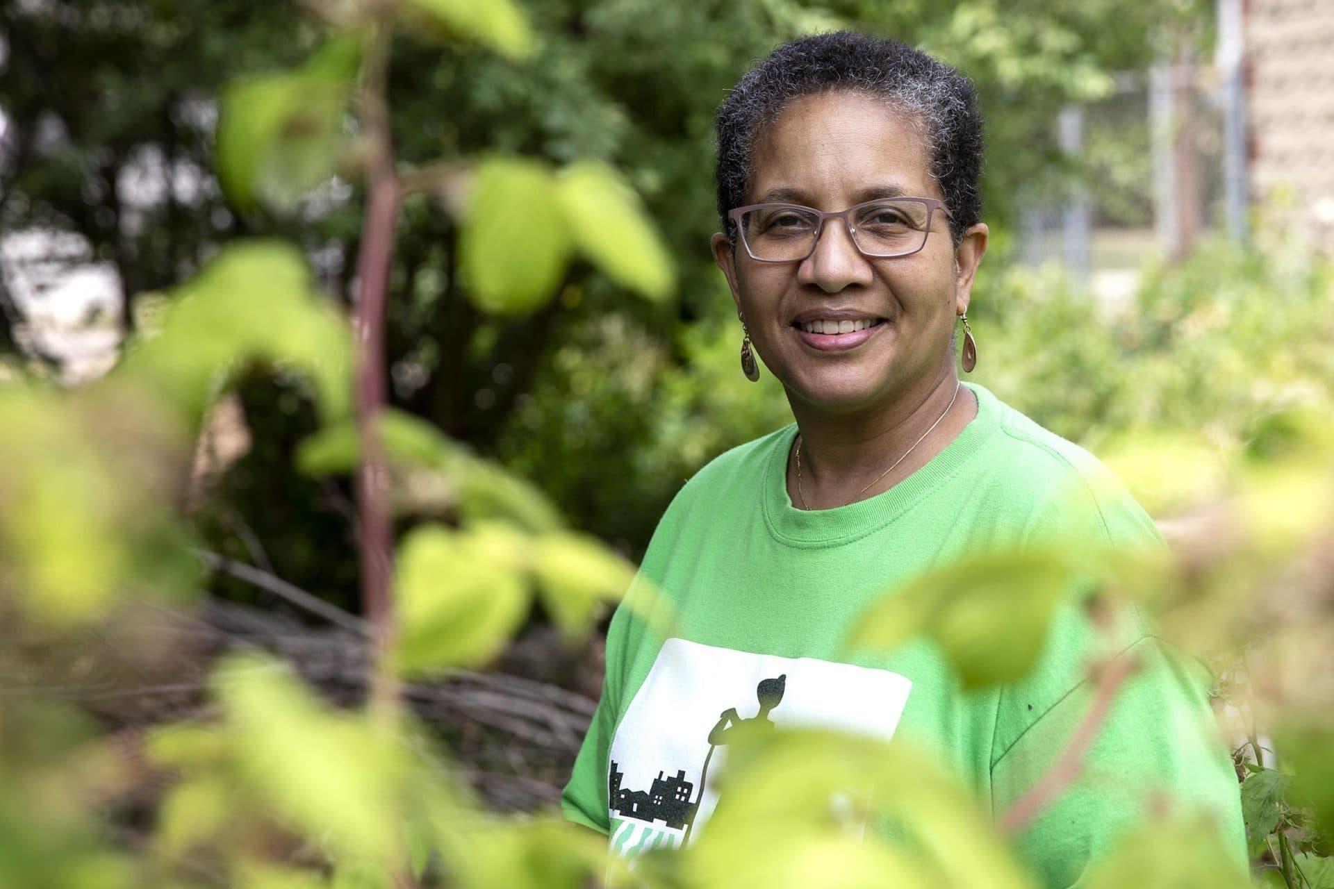 Patricia Spence, president of the Urban Farming Institute. (Robin Lubbock/WBUR)