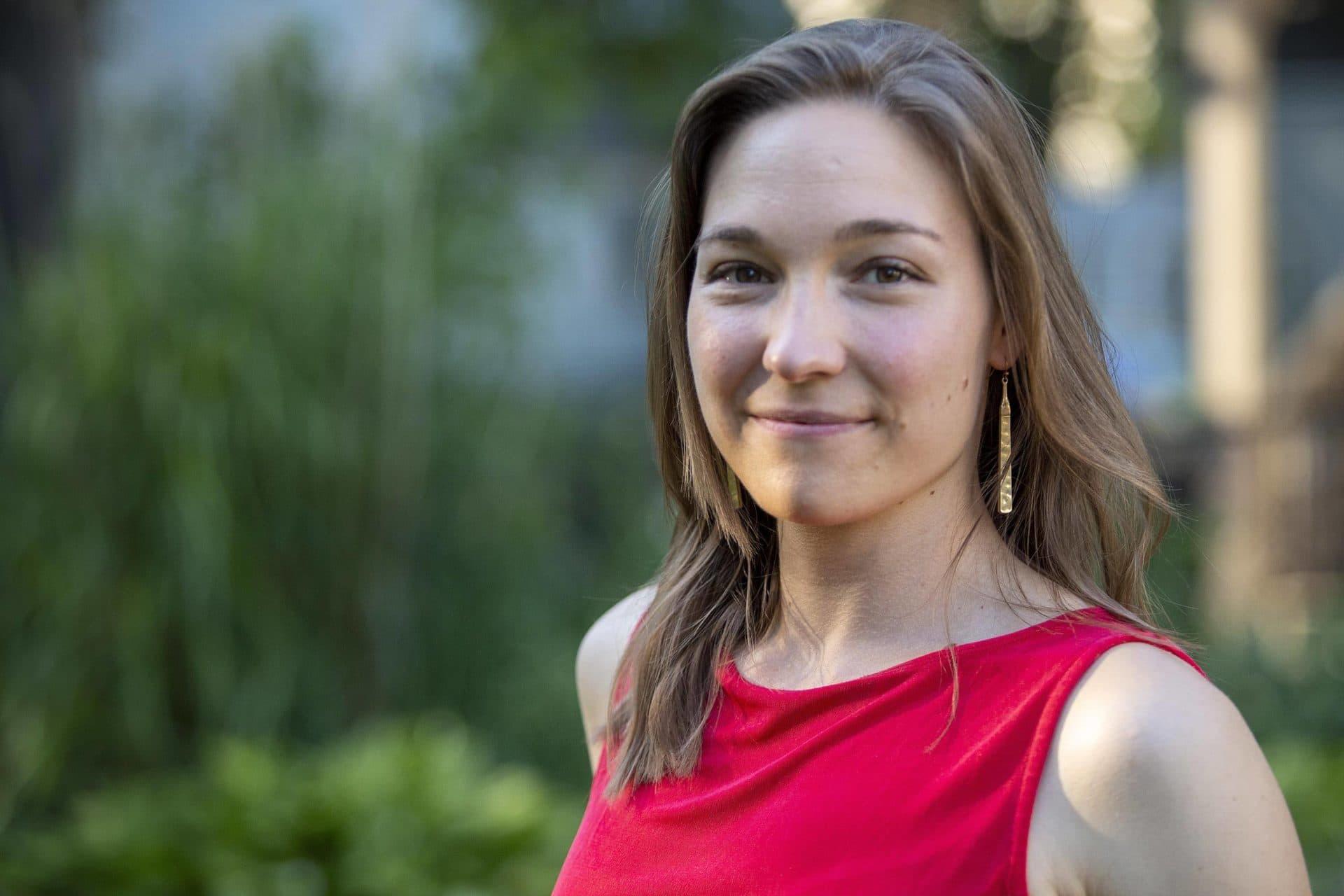 "Christina ""Nina"" Schlegel, director of the Global Center for Climate Justice at Northeastern University. (Robin Lubbock/WBUR)"