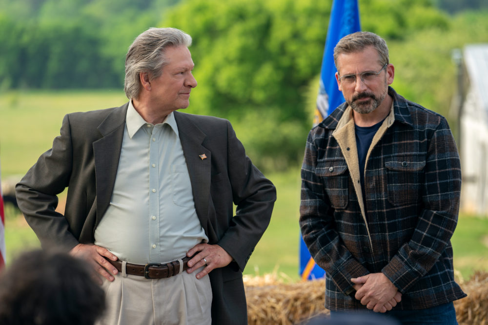 """Chris Cooper as Jack Hastings and Steve Carell as Gary Zimmer in """"Irresistible."""" (Courtesy Daniel McFadden/Focus Features)"""