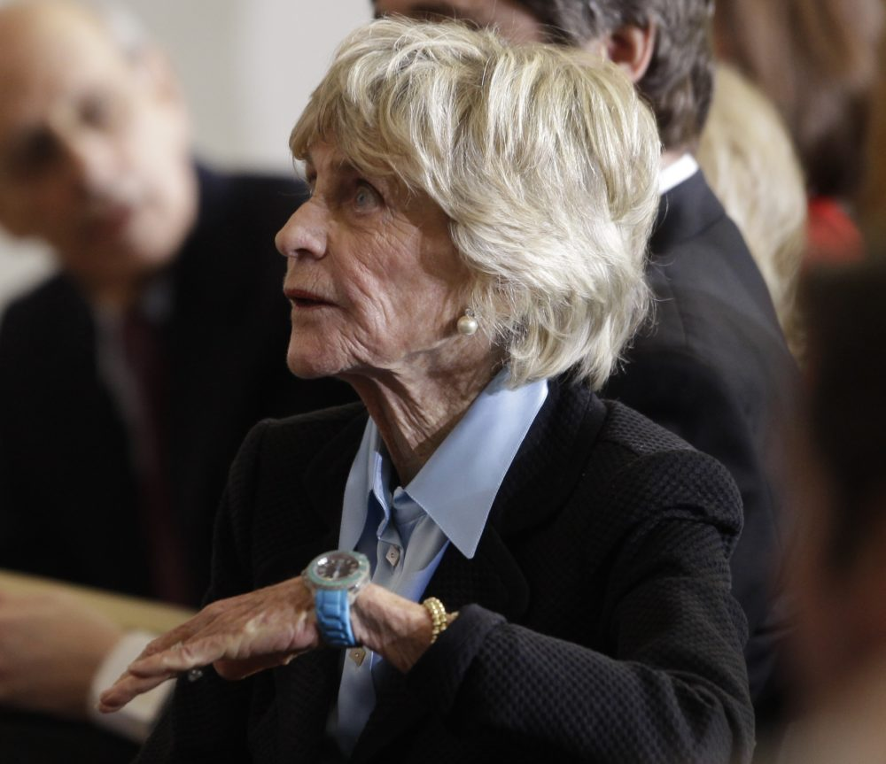 In this Jan. 20, 2011 file photo, Jean Kennedy Smith attends a ceremony marking the 50th anniversary of President John F. Kennedy's inaugural speech on Capitol Hill in Washington. (Charles Dharapak/AP)