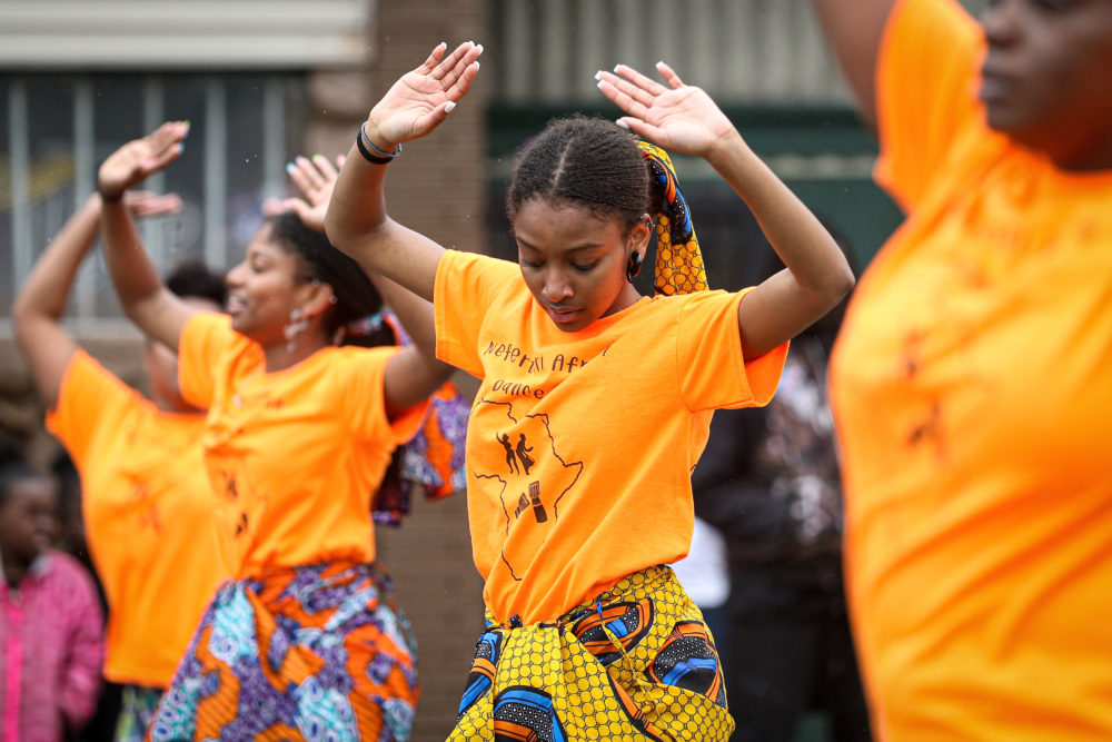 Members of the parade perform during the 48th Annual Juneteenth Day Festival on June 19, 2019 in Milwaukee, Wisconsin. (Dylan Buell/Getty Images)