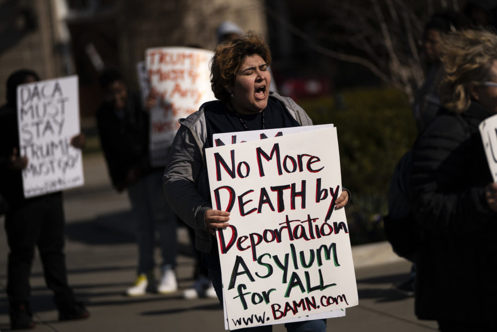 Activists from BAMN (Coalition to Defend Affirmative Action, Integration & Immigrant Rights, and Fight for Equality By Any Means Necessary) protest outside the U.S. Supreme Court on March 2, 2020 in Washington, DC. (Drew Angerer/Getty Images)