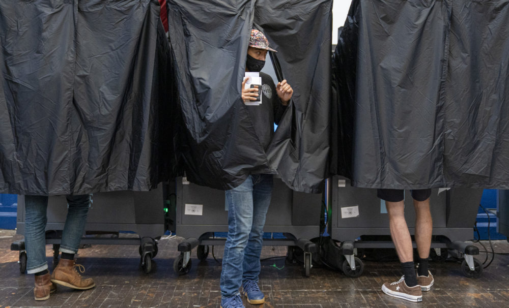 Voters cast ballots in primary elections on June 2, 2020 in Philadelphia, Pennsylvania. (Jessica Kourkounis/Getty Images)