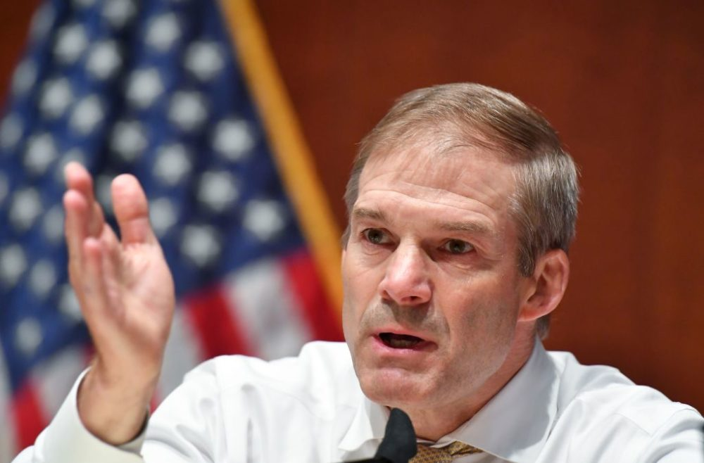 Rep. Jim Jordan (R-Ohio) speaks during a House Judiciary Committee hearing to discuss police brutality and racial profiling on Wednesday, June 10, 2020. (Mandel Ngan/Pool/AFP/Getty Images)