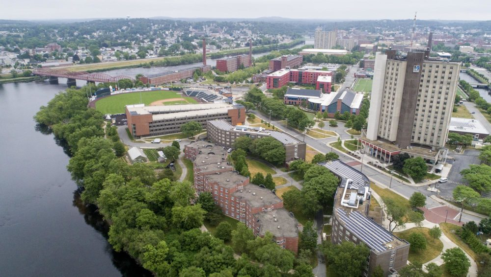 The University of Massachusetts Lowell East Campus on June 11, 2020. (Blake Nissen/The Boston Globe via Getty Images)