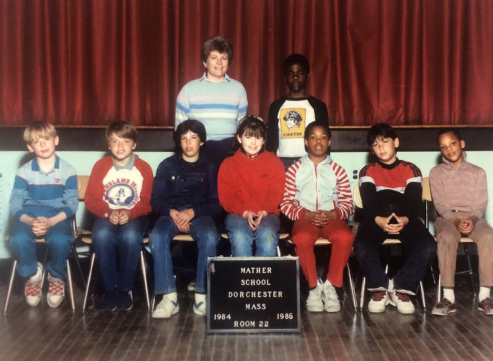 Maura O'Toole (center), photographed with her fifth-grade class at the Mather in 1985. (Courtesy Maura O'Toole)