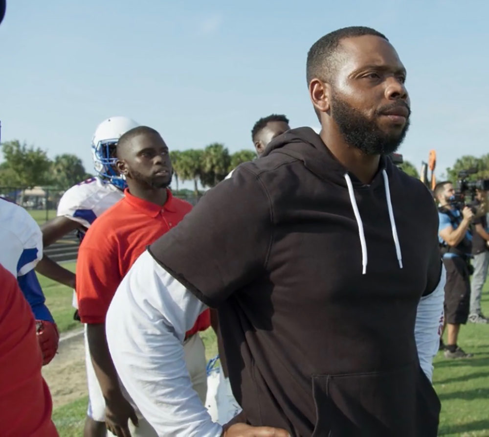 """""""This is a time where you guys get to change history and society as we know it,"""" Pahokee High School football coach DJ Boldin wrote in a message to his players. (Courtesy DJ Boldin)"""