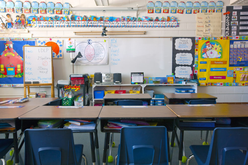 A classroom. (Mint Images via Getty Images)