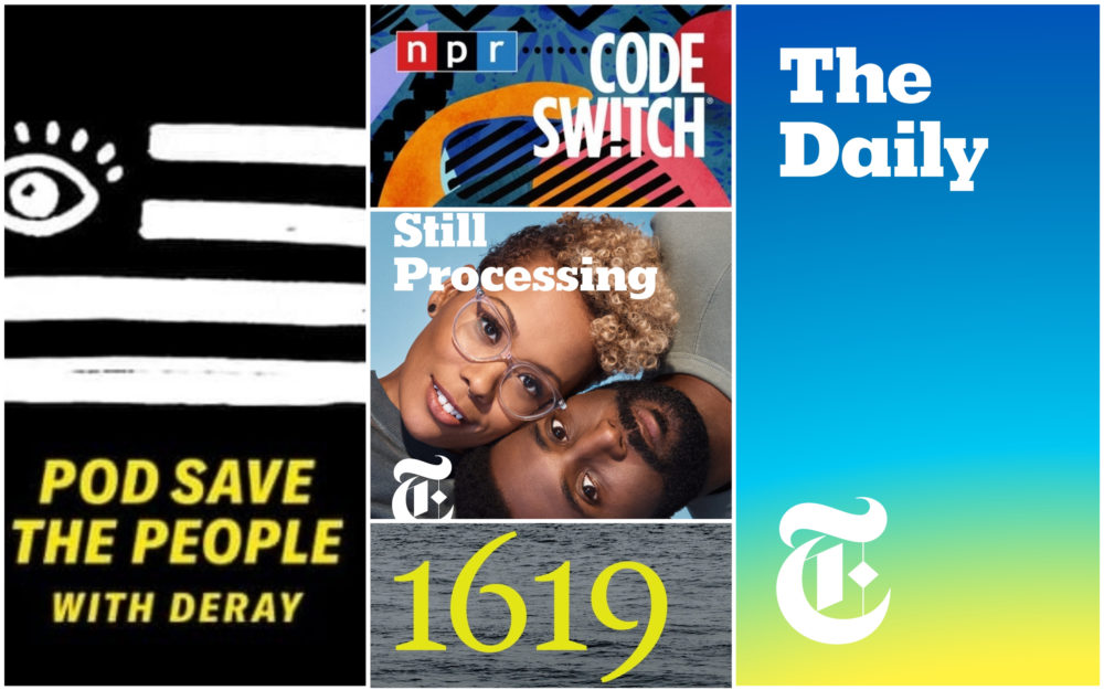 """Arts reporting fellow Christian Burno recommends the podcasts """"Pod Save the People,"""" """"Code Switch,"""" """"Still Processing,"""" """"1619"""" and """"The Daily"""" as ways to start learning about race in America. (Courtesy)"""