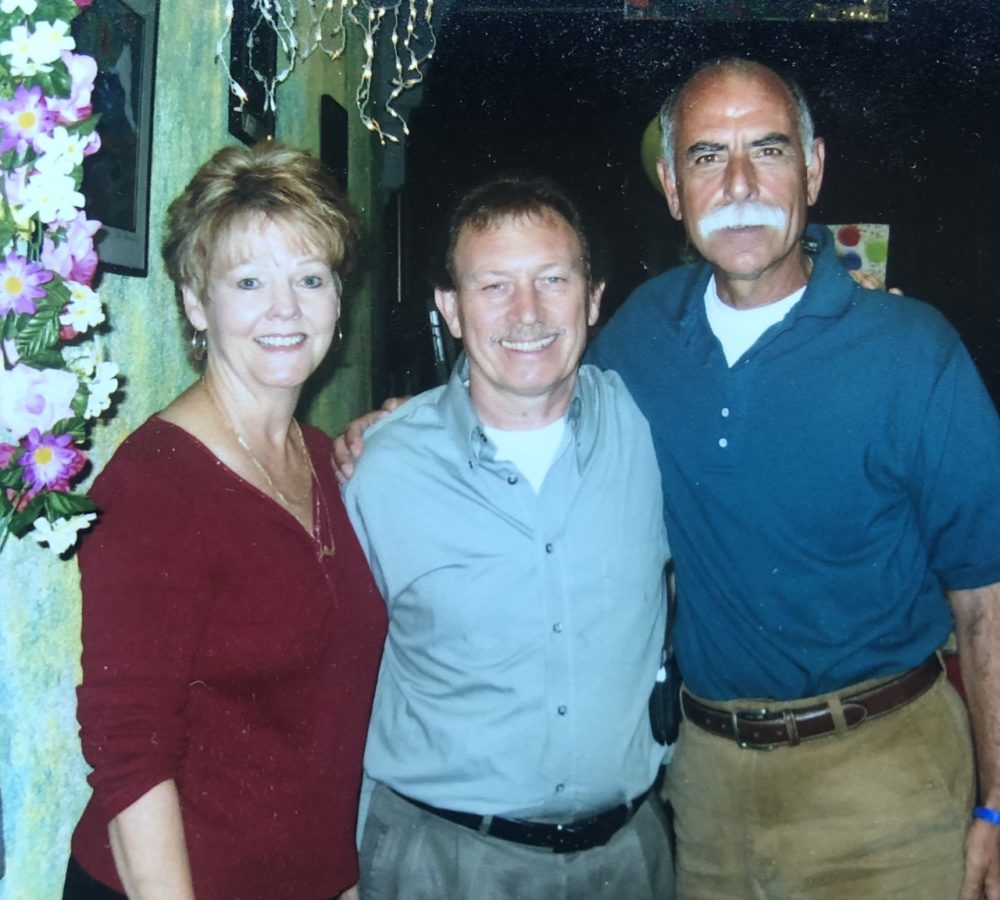Joe Oliveri (right) has been going to Tony Fanara's (center) restaurant for more than 40 years. (Courtesy Joe Oliveri)