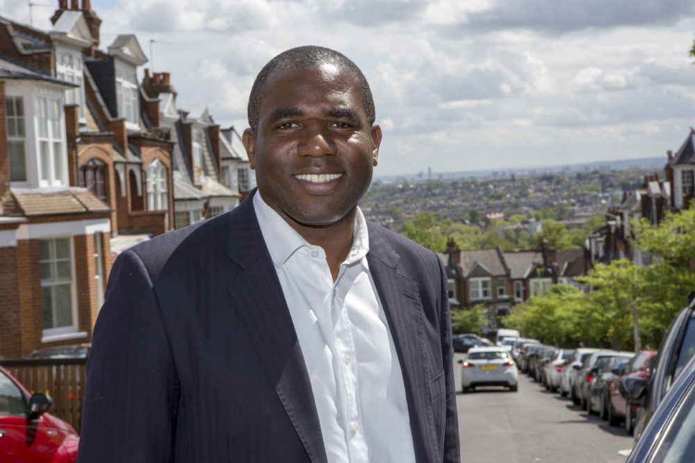 David Lammy of the Labour Party out meeting voters in North London.  (Courtesy)