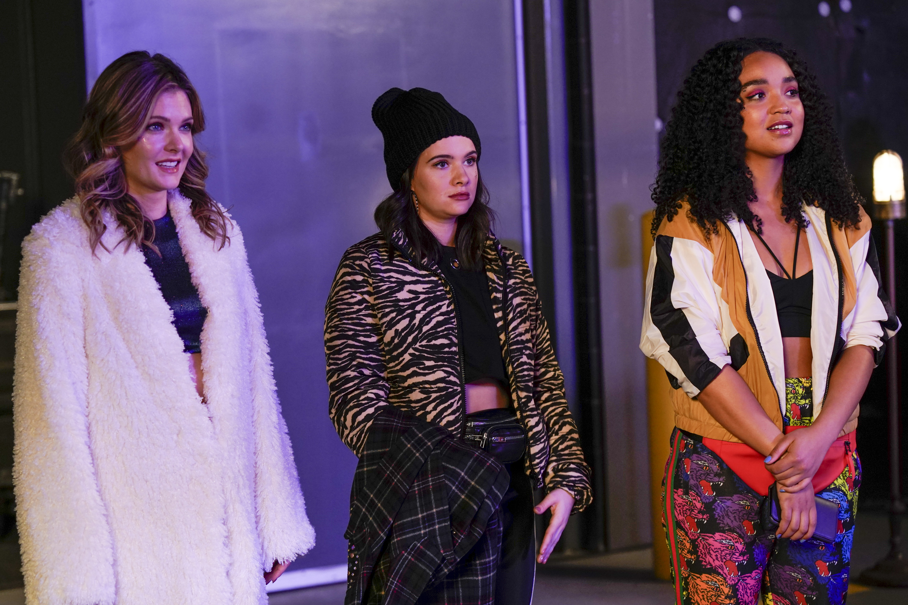 """Left to right, Meghann Fahy, Katie Stevens and Aisha Dee in """"The Bold Type."""" (Courtesy Freeform)"""