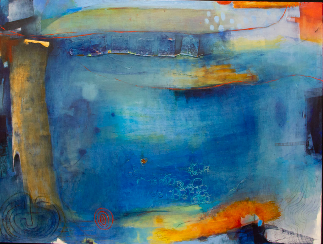 """Patricia Carrigan, """"Becoming a Lake."""" (Courtesy Five Points Gallery)"""