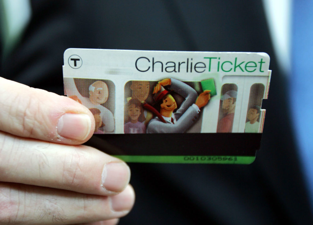 A Charlie Ticket for the MBTA. (Chitose Suzuki/AP)