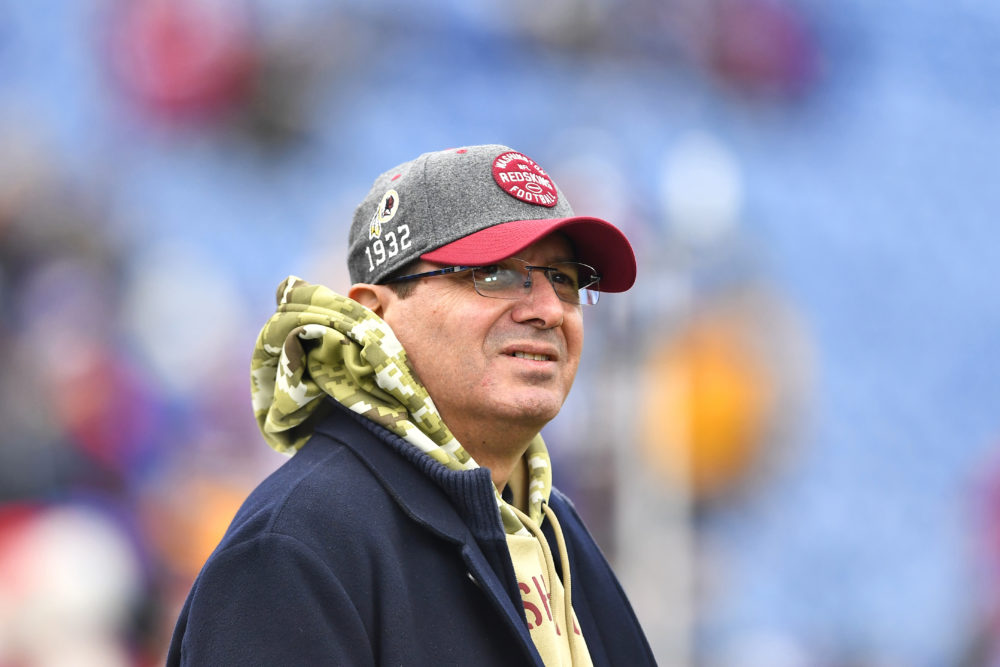 Washington owner Daniel Snyder before a 2019 game against the Buffalo Bills. (Adrian Kraus/AP)