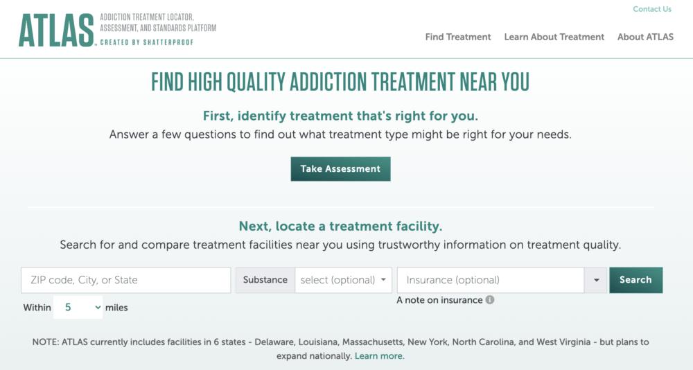 The ATLAS website. (Screenshot)