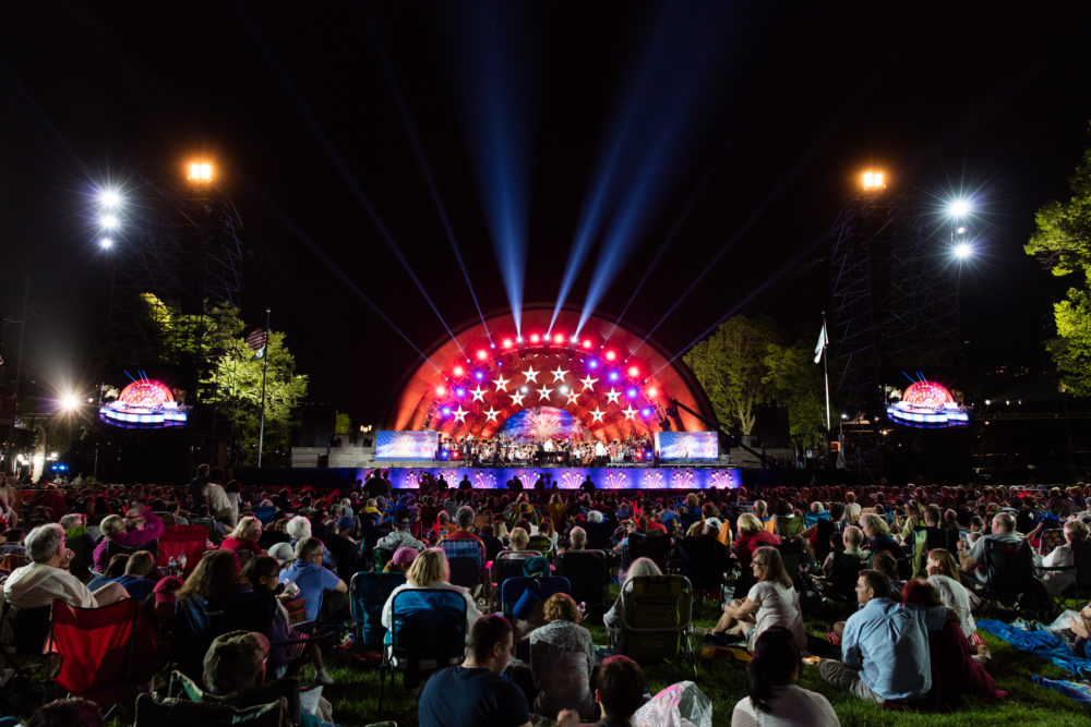 Boston Pops Hatch Shell on July 4, 2015. (Courtesy BSO/Michael Blanchard)