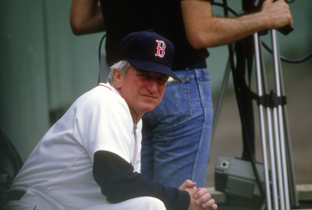 Former Boston Red Sox Manager John McNamara at Fenway Park in 10986. (Photo by Focus on Sport/Getty Images)